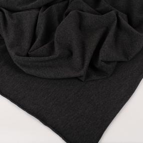 Ткань на отрез футер петля с лайкрой 07-12 цвет темно-серый меланж фото