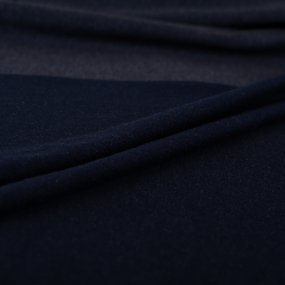 Ткань на отрез футер петля с лайкрой 08-12 цвет темно-синий меланж фото
