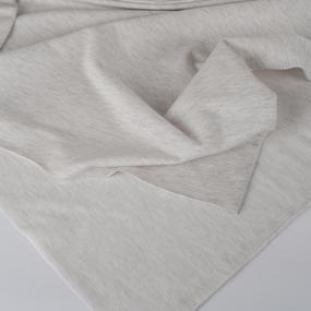 Ткань на отрез футер петля с лайкрой 09-12 цвет белый меланж фото