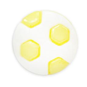 Пуговица детская сборная Мяч 13 мм цвет св-желтый упаковка 24 шт фото