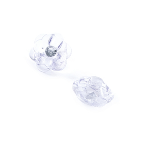 Пуговицы Блузочные со стразой Цветок проз 13 мм цвет А085 белый упаковка 24 шт фото