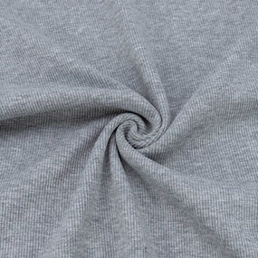 Ткань на отрез кашкорсе 3-х нитка с лайкрой цвет серый меланж 2 фото