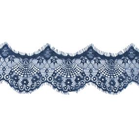 Кружево реснички 10см J041 синий упаковка 3м фото
