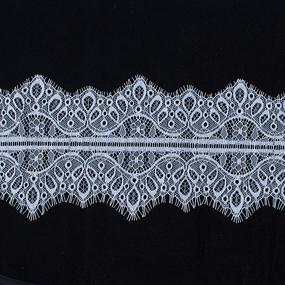 Кружево реснички 10см А066 белый упаковка 3 м фото