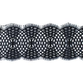 Кружево реснички 10см А924 черный упаковка 3 м фото