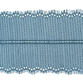 Кружево реснички 20см XJ026-1 изумруд упаковка 3м фото