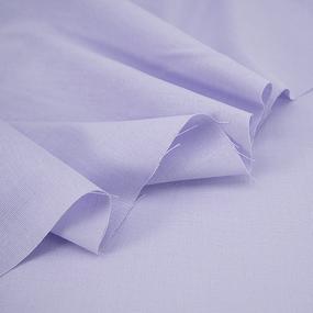 Ткань на отрез полулен 150 см 70024 цвет светло-сиреневый фото