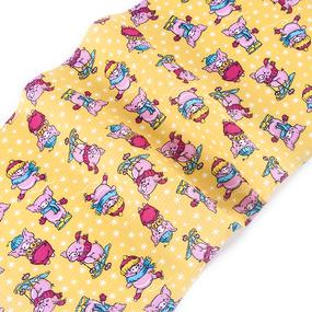 Полотенце вафельное 35/70 см 1057/2 Веселая прогулка цвет желтый фото
