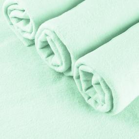 Пеленка фланелевая цвет фисташковый 75/120 фото