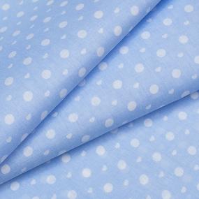 Маломеры бязь плательная 150 см 1897 горох цвет св-голубой 11 м фото