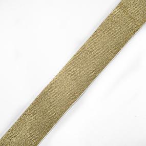 Резинка декоративная 2285 золото с люрексом 4см 1 метр фото