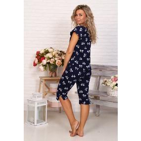Пижама Лада бриджи бантики на темно-синем Б3 р 60 фото