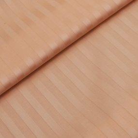 Простыня страйп-сатин 113 цвет персиковый 1.5 сп фото