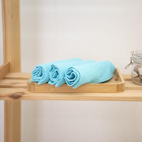 Набор вафельных полотенец Премиум 3 шт 45/70 см 437 бирюзовый фото
