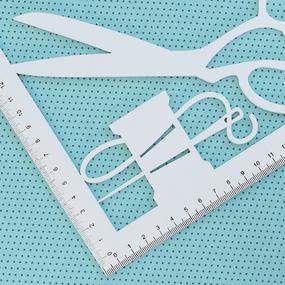 Ткань на отрез кулирка 1001-V31 Горох цвет мята фото