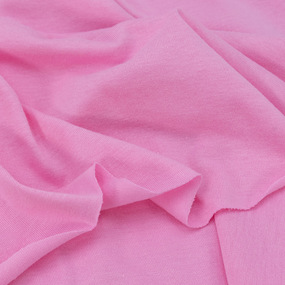 Ткань на отрез кулирка М-2015 цвет розовый фото