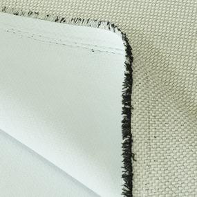 Ткань на отрез Blackout лен крупная рогожка Y391-1 цвет слоновая кость фото