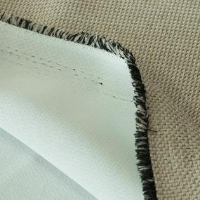 Ткань на отрез Blackout лен крупная рогожка Y391-2 цвет светло-бежевый фото