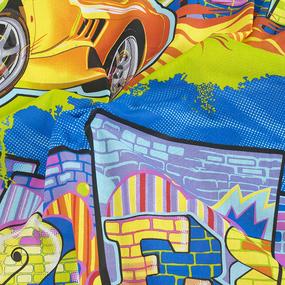 Простынь бязь детская 99311 Граффити 1.5 сп фото