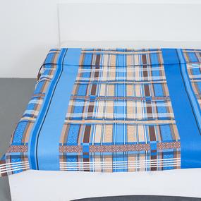 Пододеяльник бязь ГОСТ 351/1 Клетка цвет синий 1.5 сп фото