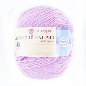 Пряжа для вязания ПЕХ Детский каприз 50гр/225м цвет 029 розовая сирень фото