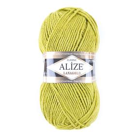 Пряжа для вязания Ализе LanaGold (49%шерсть, 51%акрил) 100гр цвет 193 фисташка фото