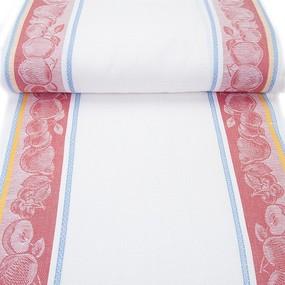 Маломеры полулен полотенечный 50 см Жаккард цвет красный 1.9 м фото