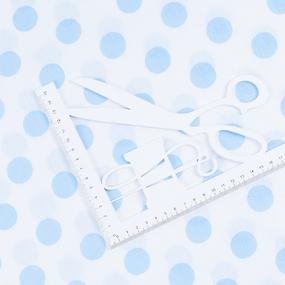 Маломеры бязь плательная 150 см 1422/23А белый фон голубой горох 10 м фото
