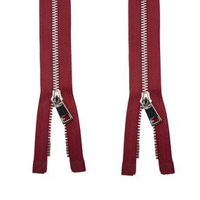 Молния металл №5ТТ никель два замка 75см D171 красный фото
