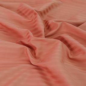 Простынь на резинке страйп-сатин 129 цвет коралловый 140/200/20 см фото