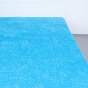 Простынь махровая цвет Бирюза 155/200 фото
