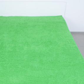 Простынь махровая цвет Зеленый 155/200 фото