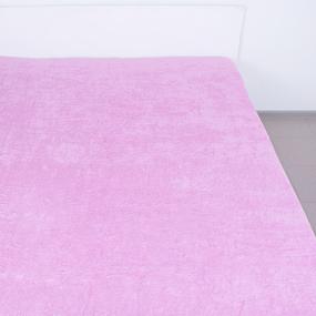 Простынь махровая цвет Розовый 155/200 фото