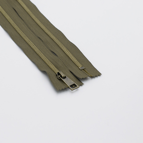 Молния металл №5СТ антик 65см D565 хаки фото