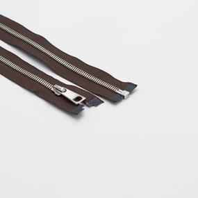 Молния металл №5СТ никель разьем 85см D570 коричневый фото