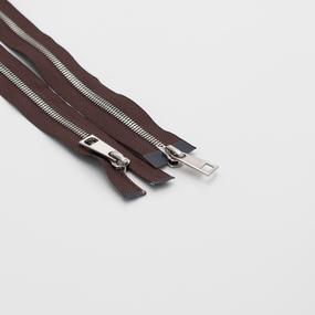 Молния металл №5СТ никель два замка 85см D570 коричневый фото