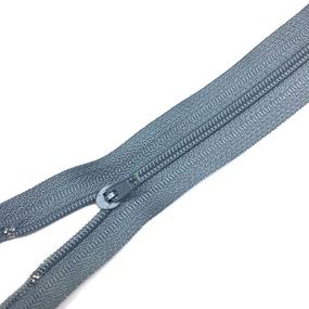 Молния брючная спираль №4 н/р 20см D316 серо-голубой п/авт фото