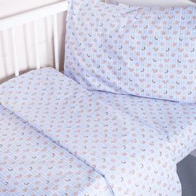 Постельное белье в детскую кроватку 92142 бязь ГОСТ фото