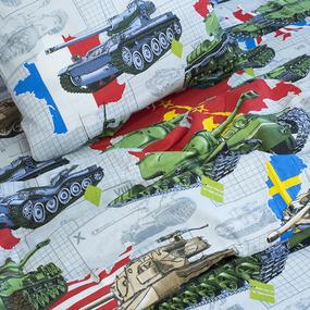 Детское постельное белье из бязи 1.5 сп 11028/1 Танки фото