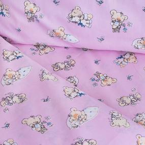 Постельное белье в детскую кроватку 1841/2 поплин с простыней на резинке фото