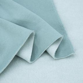 Ткань на отрез футер 3-х нитка компакт пенье начес цвет аква фото