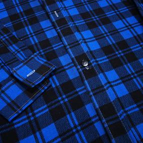 Рубашка мужская фланель клетка 44-46 цвет синий модель 1 фото
