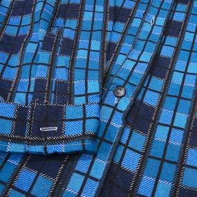 Рубашка мужская фланель клетка 52-54 цвет синий модель 2 фото