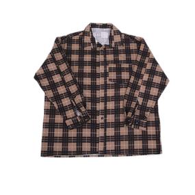 Рубашка мужская фланель клетка 60-62 цвет коричневый модель 1 фото