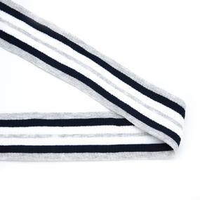 Лампасы №172 серый синий белый серый 5см 1 метр фото