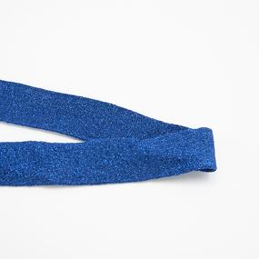 Лампасы №173 синий с люрексом 3см 1 метр фото
