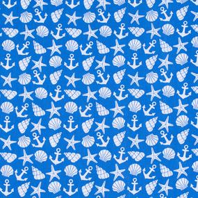 Мерный лоскут бязь плательная 150 см 9189/1 цвет синий фото