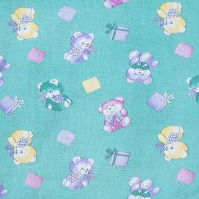 Ткань на отрез ситец О/М 80 см 8839 цвет зеленый фото