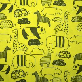 Ткань на отрез интерлок Т540 Zoo фото