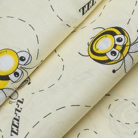 Ткань на отрез бязь 120 гр/м2 детская 150 см 8082/1 Пчелки фото